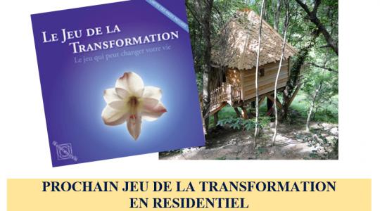 JEU DE LA TRANSFORMATION  en RÉSIDENTIEL du 12 août 2016 au 15 août 2016